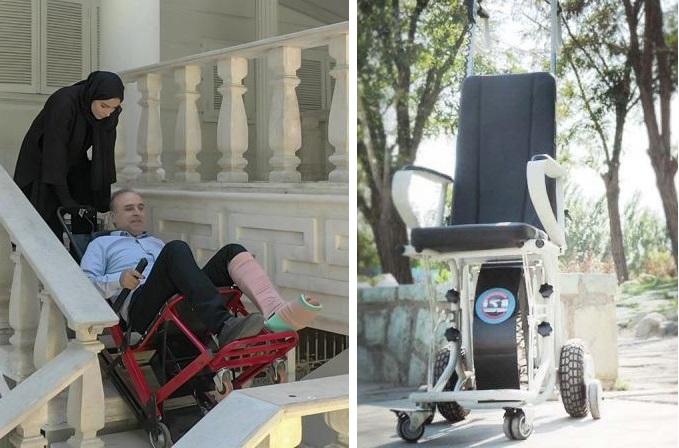 ویلچر پله رو ایرانی